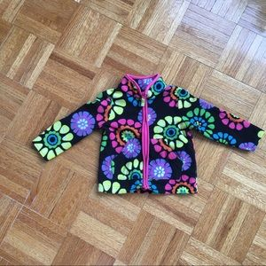 Carter s psychedelic floral fleece 12M girls